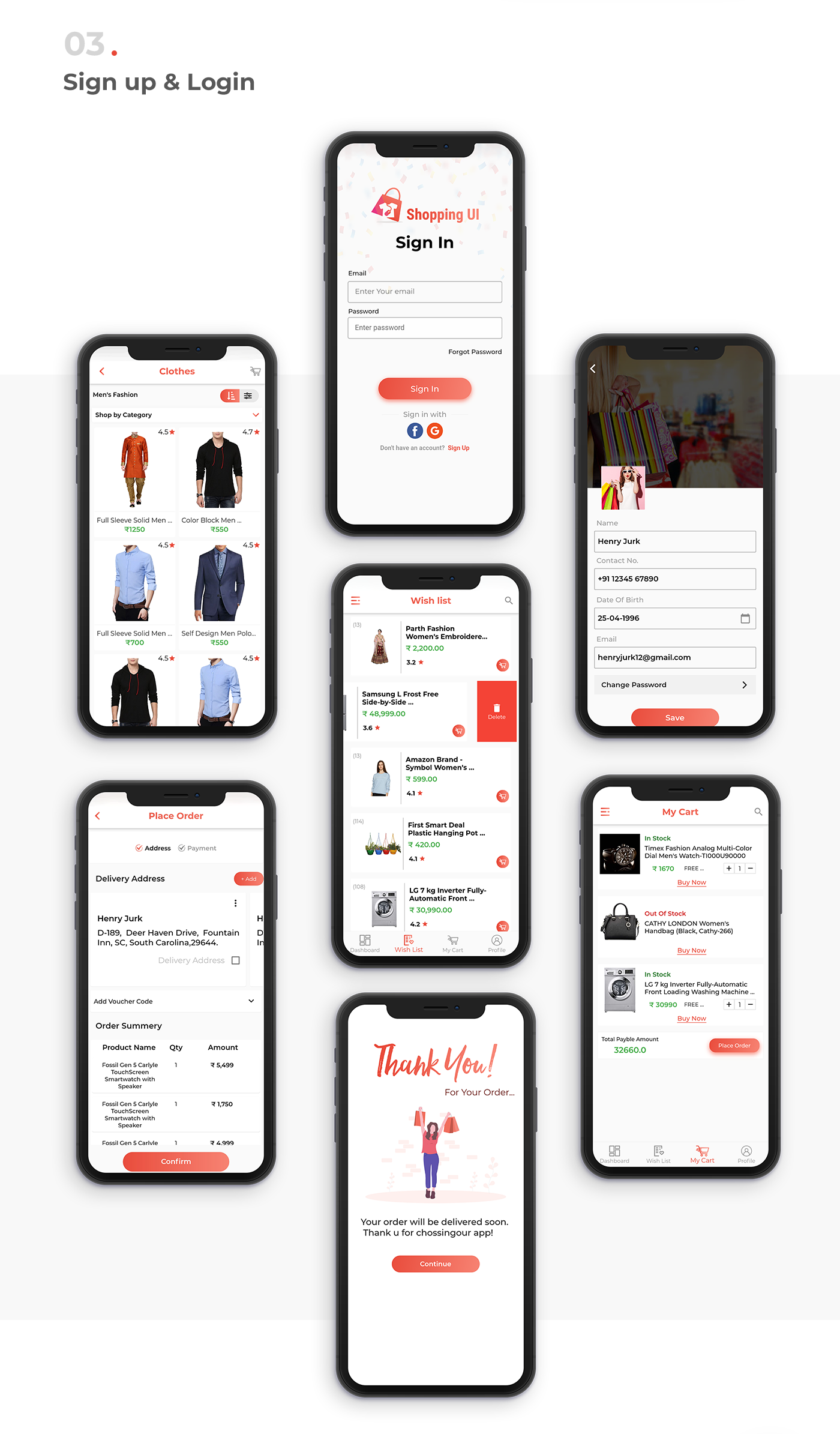 E-Commerce UI Template in Flutter - 5