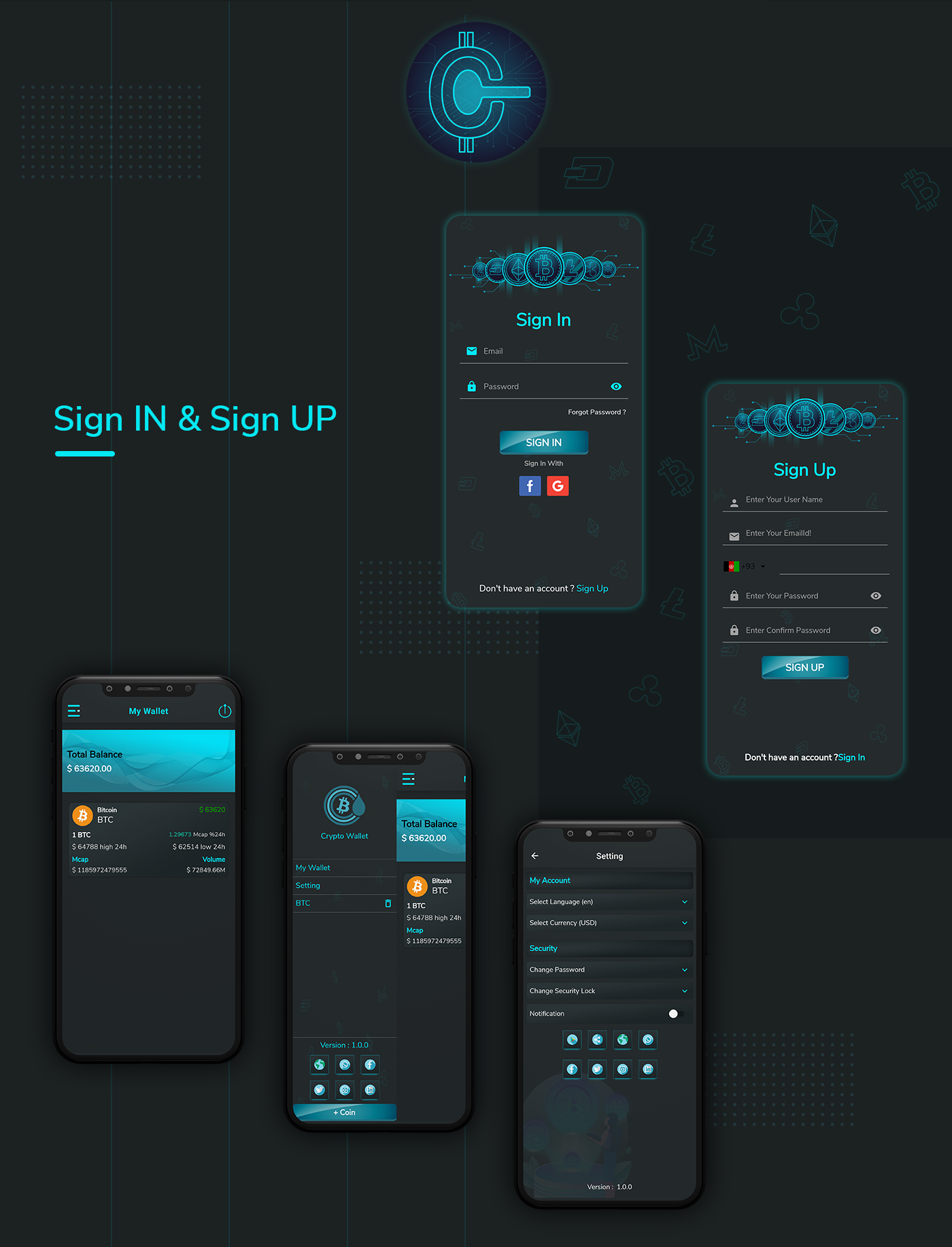 Crypto Wallet UI- Flutter App | Android – iOS - 5
